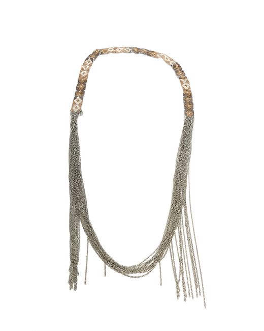 Chan Luu | Natural Beige Mix Glass Bead Necklace | Lyst