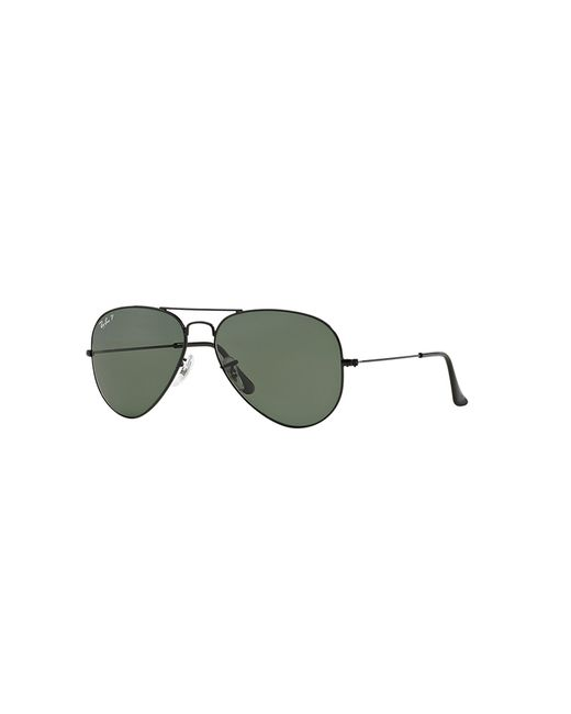 Ray-Ban | Black Ray Ban Large Metal Aviator Sunglasses for Men | Lyst