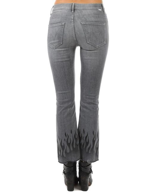 5d5c8fd964705 ... Mother - Gray Insider Ankle Fray Jean - Lyst ...