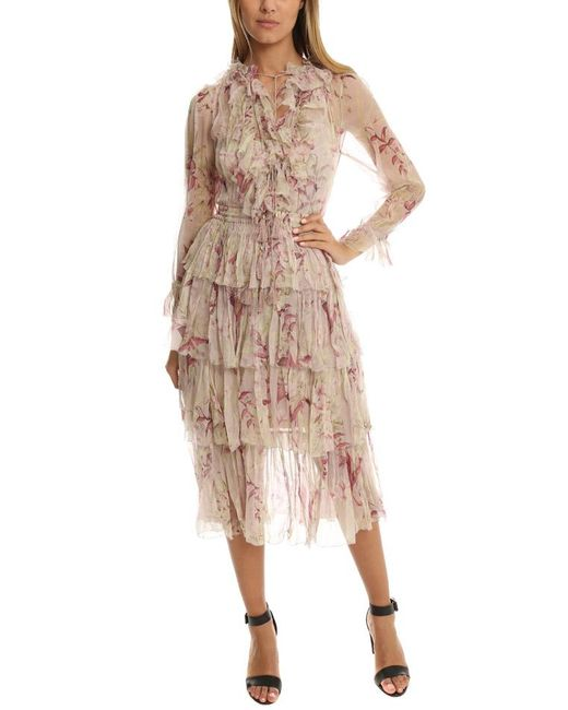 Zimmermann | Pink Winsome Tier Dress | Lyst
