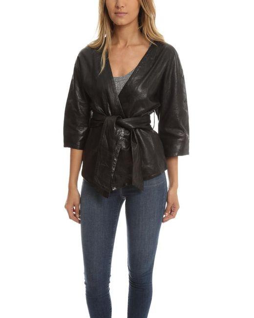 Smythe - Black Leather Kimono Jacket - Lyst
