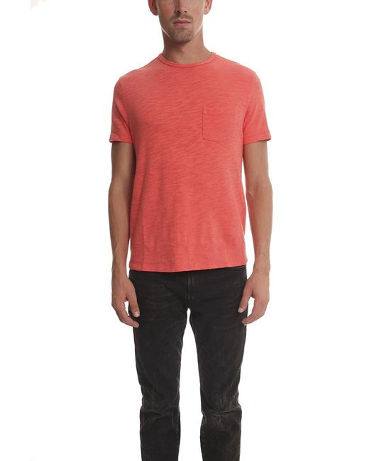 Rag & Bone | Red Basic Pocket Tee for Men | Lyst