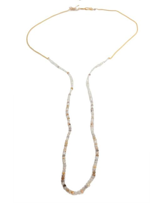Chan Luu   Metallic African Opel Crystal Necklace   Lyst
