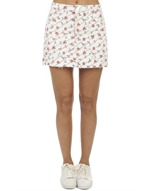 Re/done - White The Cargo Skirt Mini - Lyst