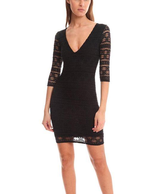 Nightcap | Black Cherokee Deep V Dress | Lyst