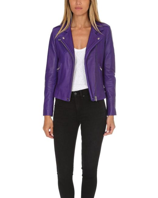 IRO - Purple Han Jacket - Lyst
