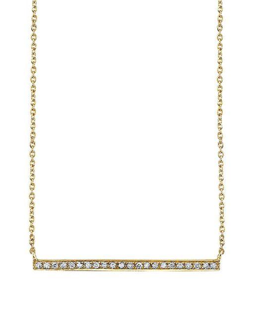 Sydney Evan - Metallic Long Micropave Bar Necklace - Lyst