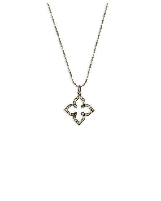 Sydney Evan - Metallic Micro Pave Moroccan Flower Charm Bracelet - Lyst