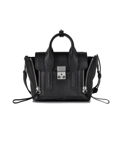 3.1 Phillip Lim - Black Pashli Mini Leather Satchel - Lyst
