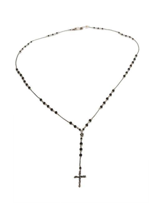 Chan Luu - Metallic Matte Onyx Cross Charm Necklace - Lyst