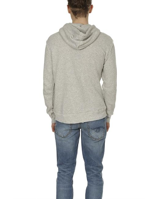 ed823ba8c0d8 ... R13 - Gray Spliced Hoodie for Men - Lyst ...