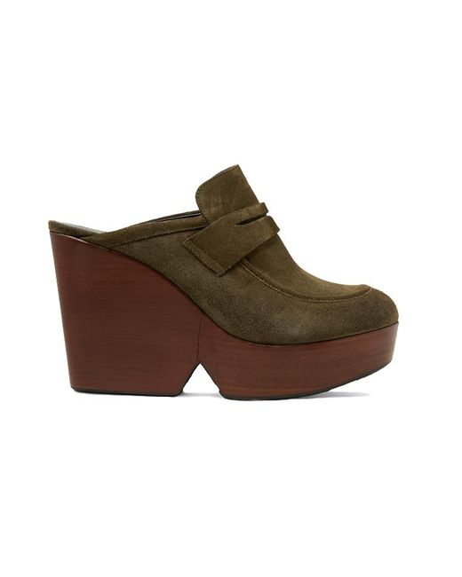 Robert Clergerie Shoes, Damor Leather Wedge Mule
