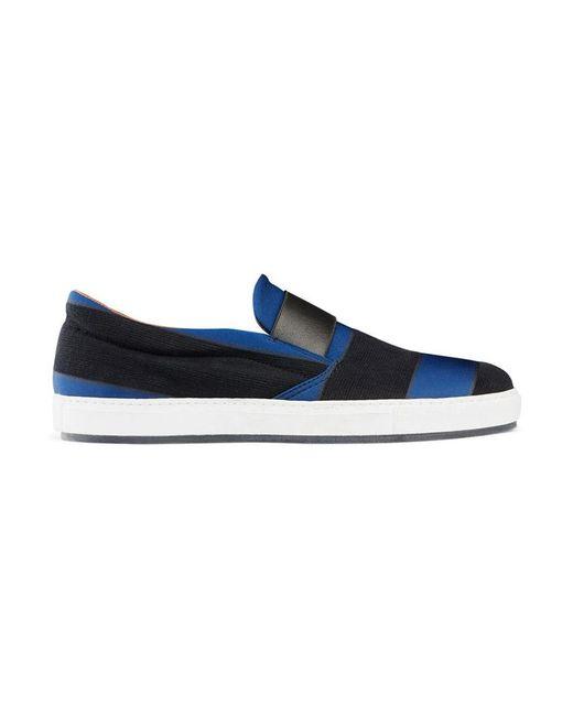 Acne | Black Hans Striped Slip-On Sneakers for Men | Lyst