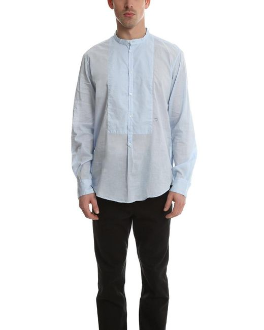 Massimo Alba | Blue Massmio Alba Priest Collared Shirt for Men | Lyst