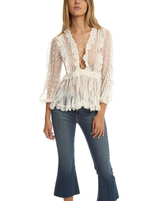 Zimmermann | White Valour Scallop Ruffle Blouse | Lyst