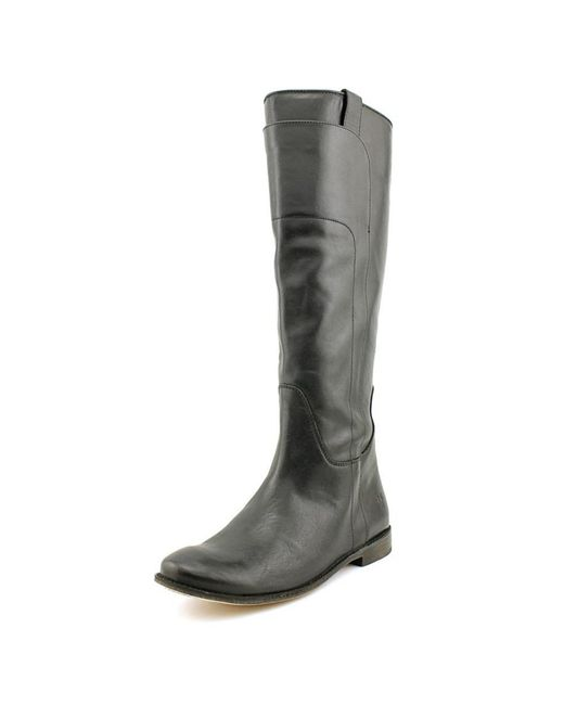 Frye | Paige Tall Women Round Toe Leather Black Knee High Boot | Lyst