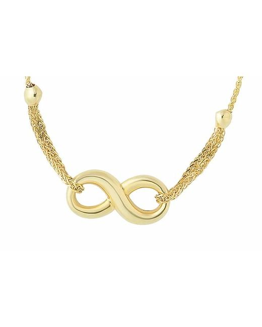 Tia Collections | Metallic 14kt Yellow Gold Shiny Puffed Infinity Bracelet | Lyst