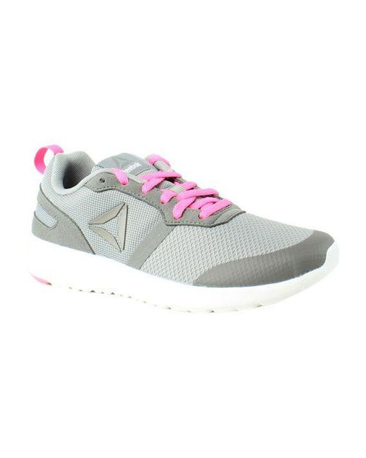a4132a36f9ddc5 Lyst - Reebok Womens Foster Flyer Gray Running Shoes in Gray