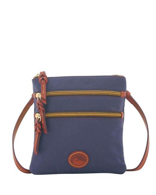 Dooney & Bourke - Blue Nylon North South Triple Zip Shoulder Bag - Lyst