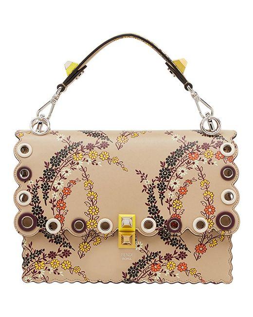 Fendi - Brown Women's Beige Shoulder Bag - Lyst
