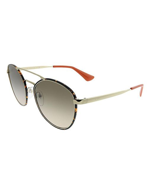 Prada - Multicolor Pr 63ts 2au3d055 Havana Light Gold Square Sunglasses - Lyst