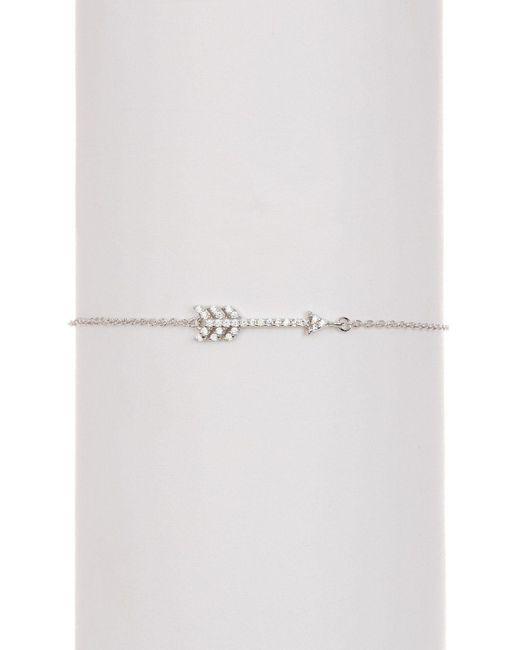 Adornia - Metallic Sterling Silver And Swarovski Crystal Arrow Bracelet - Lyst