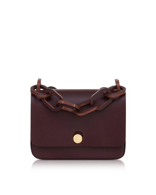 Sophie Hulme - Red Women's Burgundy Leather Shoulder Bag - Lyst