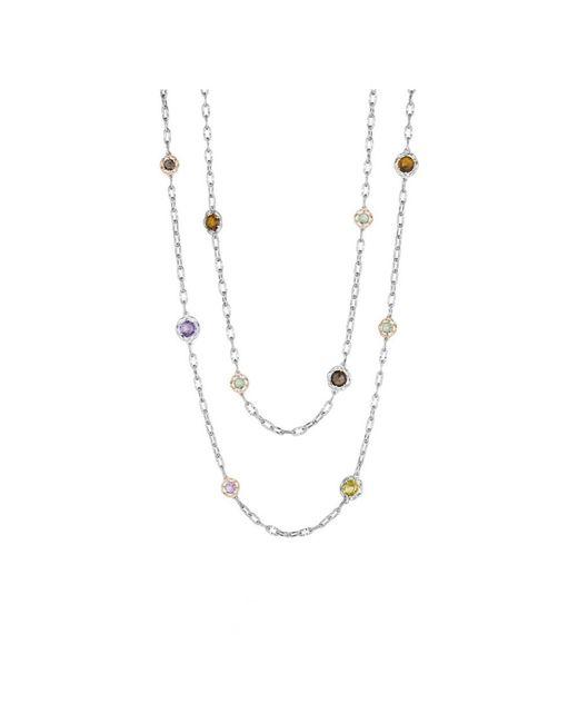 "Tacori | Metallic """"color Medley"""" 18k & Silver 13.22 Ct. Tw. Gemstone 38in Necklace | Lyst"