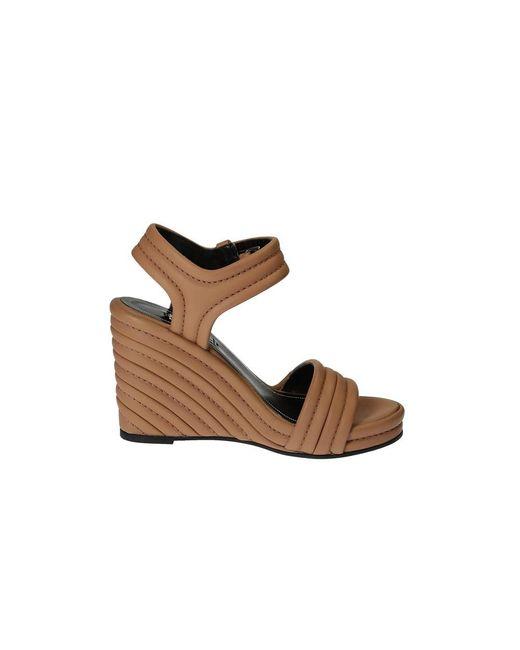 Balenciaga - Women's 410949wavi02702 Brown Leather Sandals - Lyst