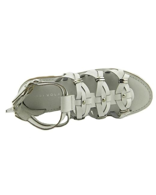 b0f0d546a759e ... Very Volatile - White Womens Roman Leather Open Toe Casual Gladiator  Sandals - Lyst ...