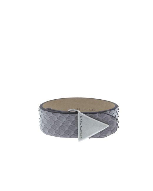 Nada Sawaya - Gray The Simple - Python And Satin Black Nickel-tone Bracelet - Lyst