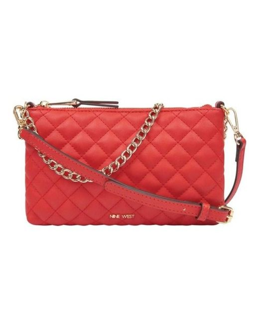 Nine West - Red Women's Pouchette Quilted Crossbody Purse - Lyst