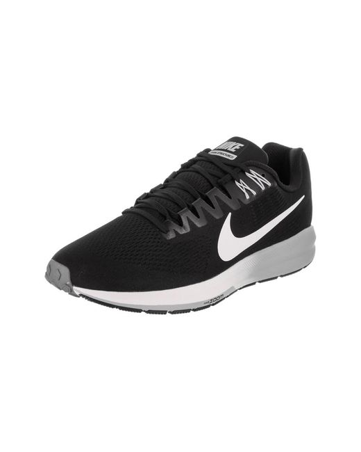 58afeccf216 Nike - Black Men s Air Zoom Structure 21 Running Shoe for Men - Lyst ...