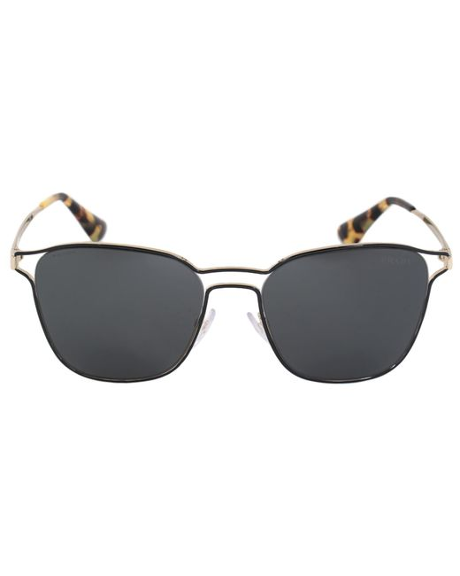 Prada - Cinema Square Sunglasses Pr54ts 1ab5s0 55 | Black Frame | Carbon Lenses - Lyst