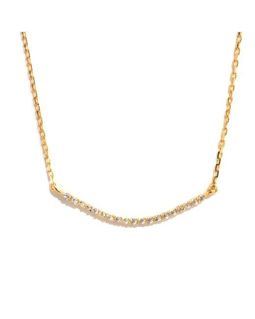 Barzel - Metallic 18k Gold Ptd Sterling Silver Cz Necklace - Lyst