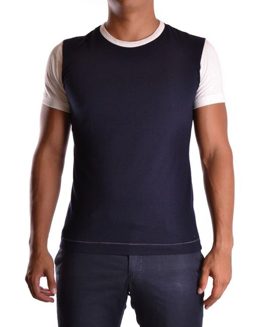 Yohji Yamamoto - Men's Mcbi317021o Blue Cotton T-shirt for Men - Lyst