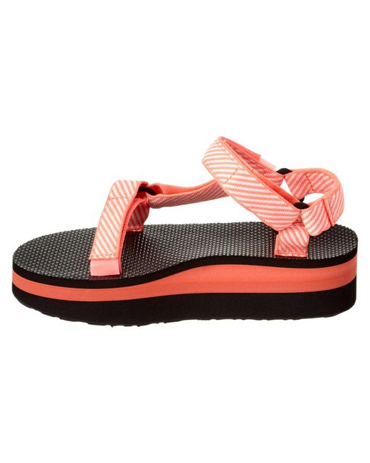 9a4a789ff24b Lyst - Teva Flatform Universal Sandal in Pink