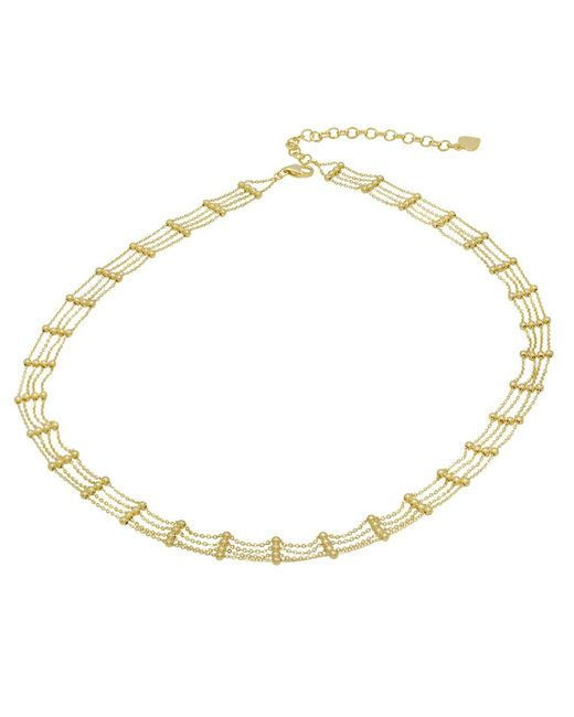 Amanda Rose Collection - Metallic Amanda Rose Fancy Diamond Cut Choker Necklace In 14k Yellow Gold (16 Inch) - Lyst