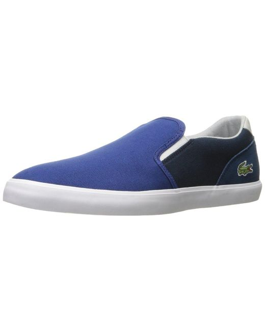 562d1498e Lyst - Lacoste Men s Jouer Slip-on 217 1 in Blue for Men