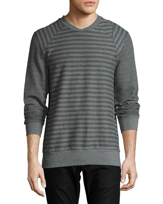 2xist - Gray 2(x)ist Terry Crewneck Sweatshirt for Men - Lyst
