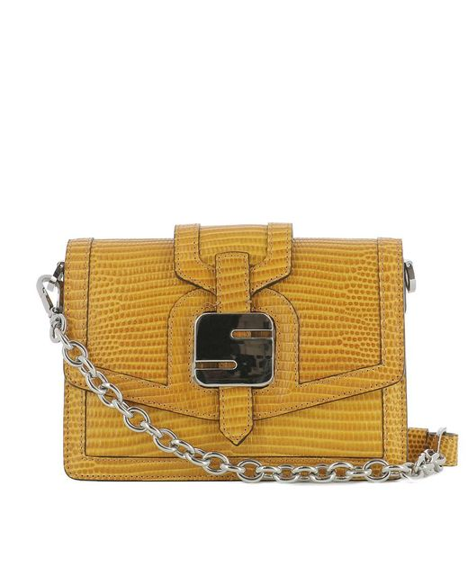 Serapian - Women's Yellow Leather Shoulder Bag - Lyst