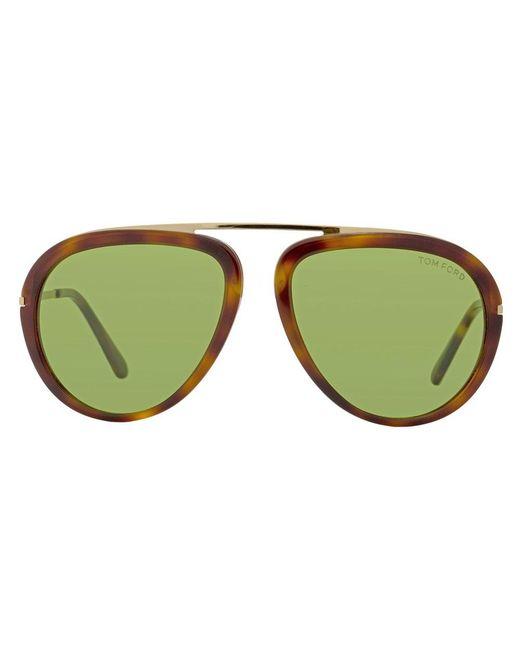 ae1ab18f8a9b ... Tom Ford - Green Aviator Sunglasses Tf452 Stacy 56n Havana rose Gold  Ft0452 - Lyst