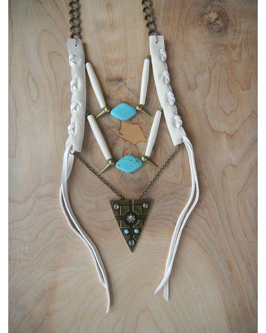 Love Leather   Multicolor Warrior Necklace   Lyst