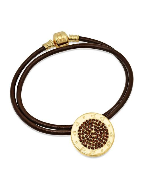 Caterina Jewelry | Brown The Cj Golden Charm Necklace | Lyst