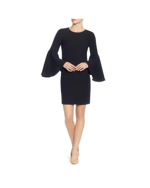 Catherine Malandrino - Black Womens Party Bell Sleeves Cocktail Dress - Lyst
