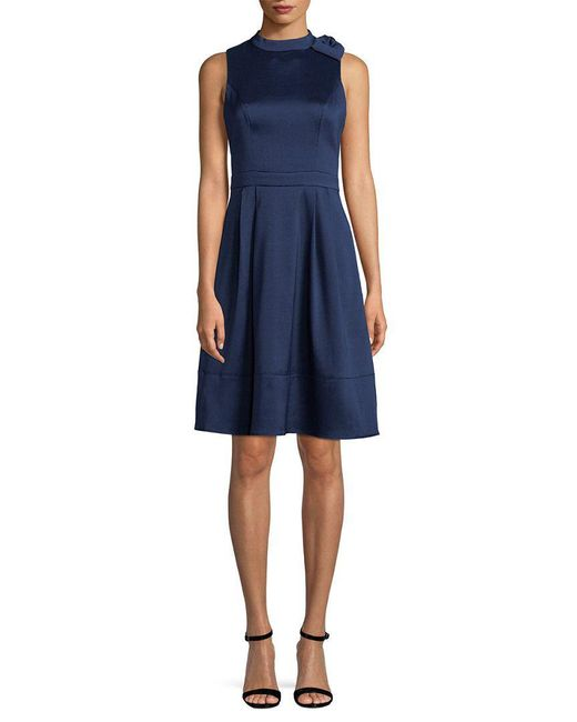 Julia Jordan - Blue Taffeta Cocktail Dress - Lyst