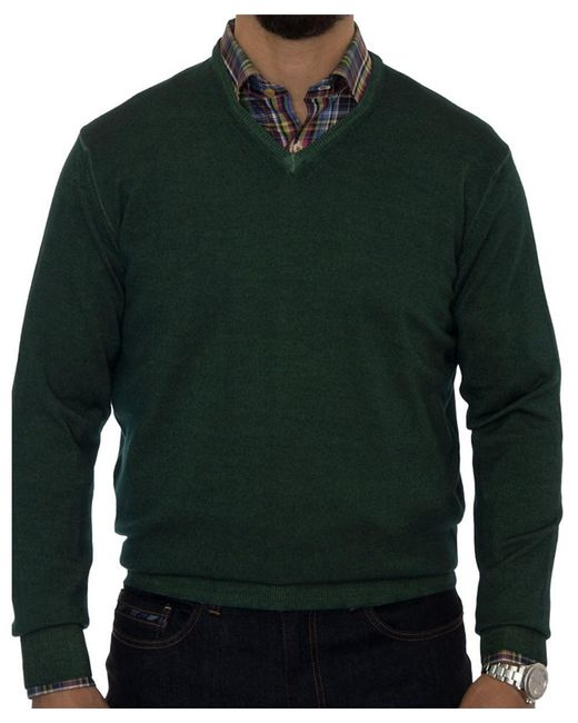 Robert Talbott - Green Aptos Wool V-neck Sweater for Men - Lyst