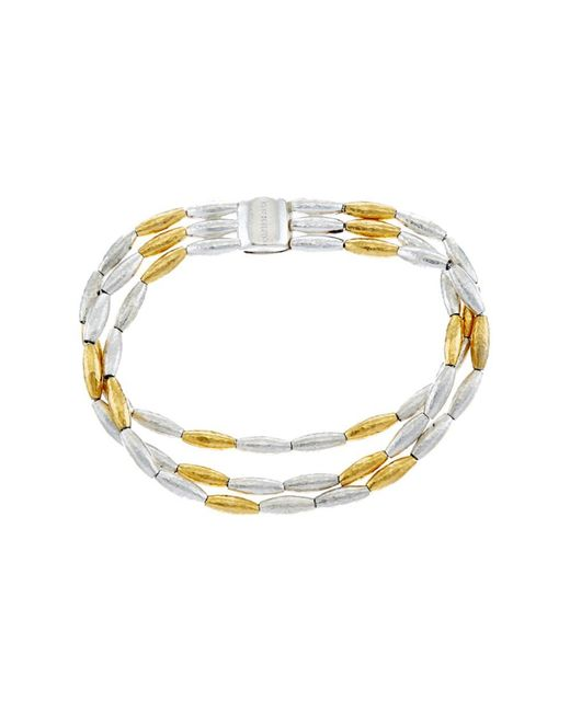 Gurhan - Metallic Wheat 24k Yellow Gold Plated & Silver Bracelet - Lyst