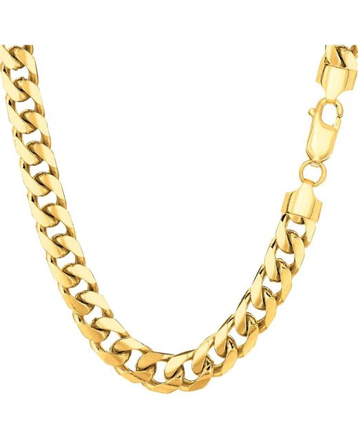 JewelryAffairs - 14k Yellow Gold Miami Cuban Link Chain Necklace, Width 6.9mm, 22 Inch for Men - Lyst