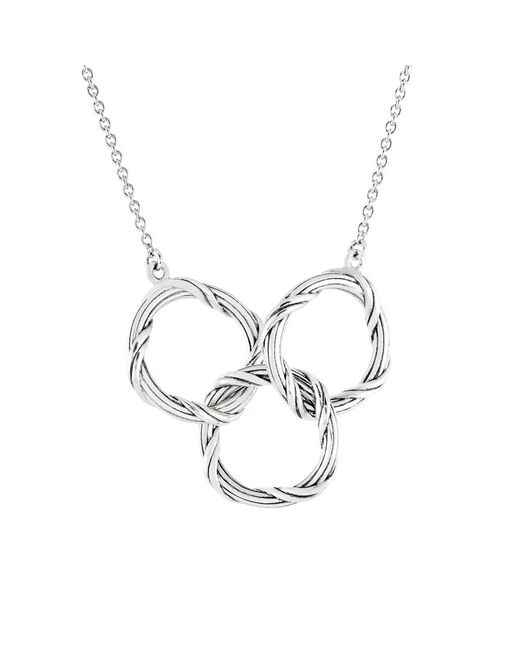Peter Thomas Roth Fine Jewelry | Metallic Peter Thomas Roth Signature Romance Trio Circle Necklace In Sterling Silver | Lyst